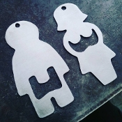 """His and Hers"" Bottle Opener set"
