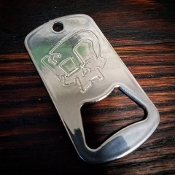 """ZP Skull"" Key Chain Bottle Opener"