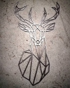 Steel Wall Art (DEER)