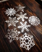 Steel Snowflake Ornament SET!