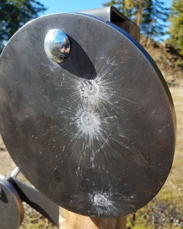 8in Static Ar500 Shooting Gong