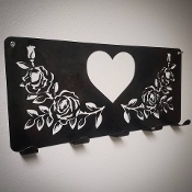 "Coat Hanger ""HEART & ROSES"""