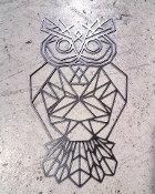 Steel Wall Art (OWL) Geometric