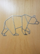 Steel Wall Art (BEAR)