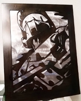 """MASTER CHIEF"" Steel Wall Art"