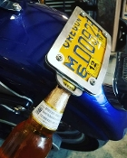Low Profile License Plate Mount with Bottle Opener