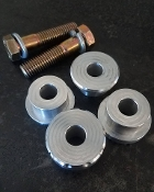 Solid Riser Bushing and Hardware Kit for HD Motorcycles